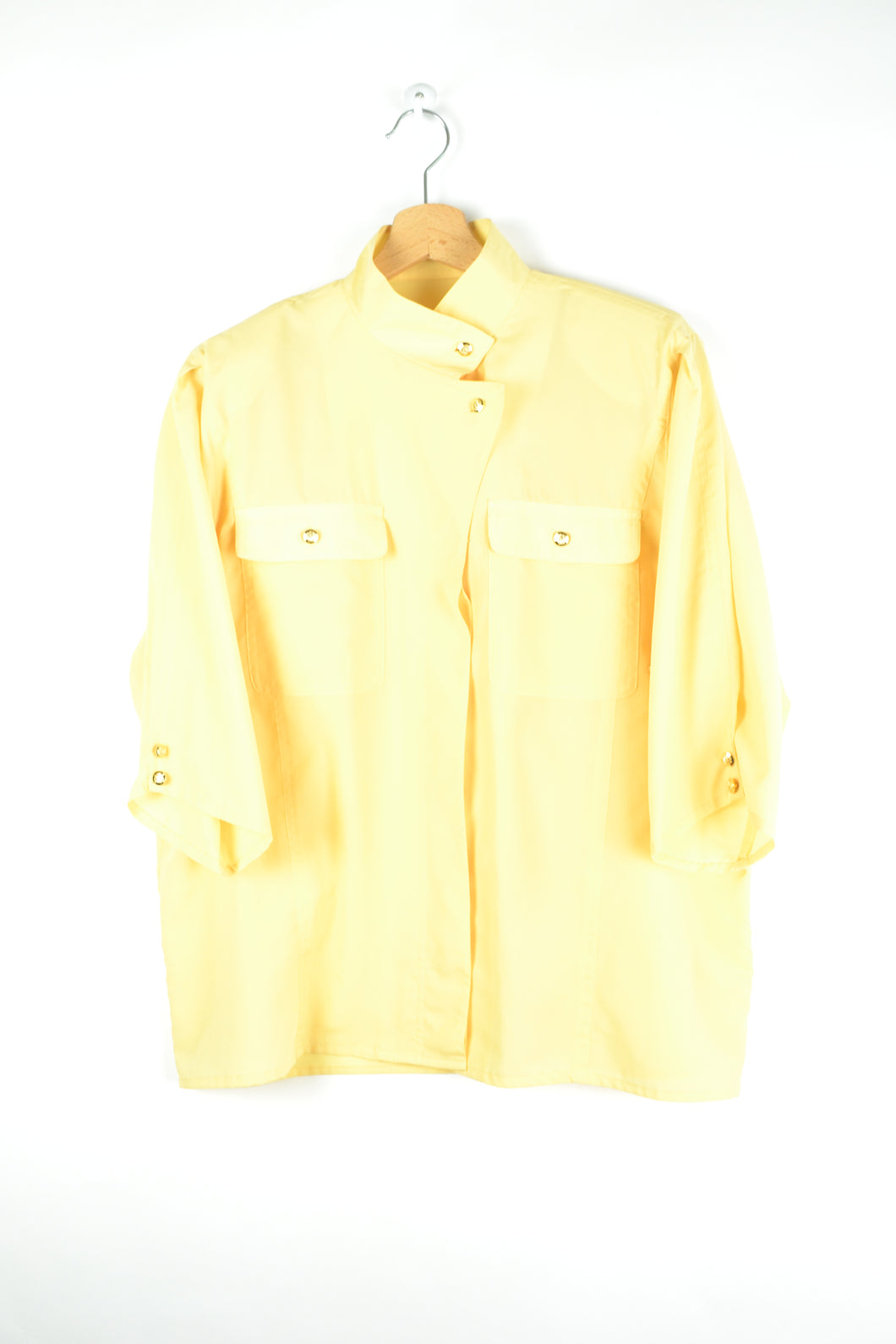 Yellow Pastel Summer blouse M L