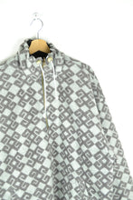 Load image into Gallery viewer, Vintage 90s - Patterned Fleece Sweater with a Gecko Print - Size XL