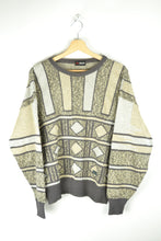 Load image into Gallery viewer, Vintage 80s - Geometric Pattern Sweater - Size M