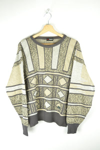 Vintage 80s - Geometric Pattern Sweater - Size M