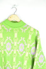 Load image into Gallery viewer, 70s Neon Green Sweater Medium M