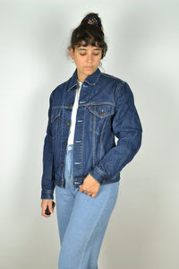 Y2K Levi's Dark Blue Denim Jacket small S