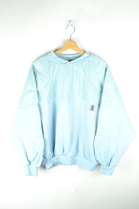 70s 80s Pastel Blue Cute Sweatshirt Medium M L
