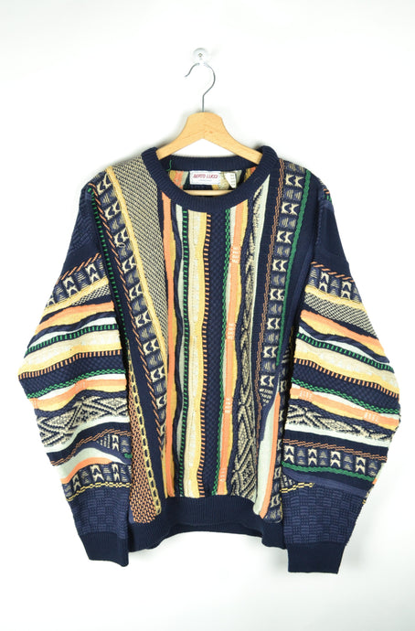 80s Patterned Sweater Coogi Style Medium M
