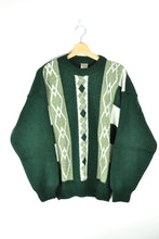 Load image into Gallery viewer, Vintage Green Patterned Sweater Large L
