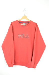 Red Fila Sweatshirt Large L XL