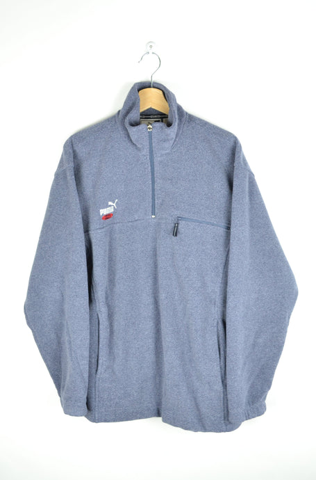 90s Puma Half Zip Fleece Sweater Medium M