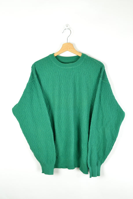Carlo Colucci Plain Gren Sweatshirt Medium M