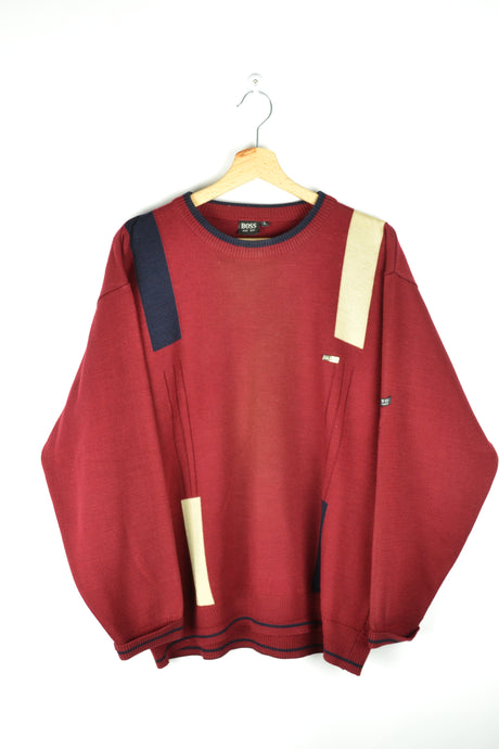 Hugo Boss Red Sweater Large L