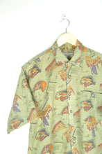 Load image into Gallery viewer, 80s Printed Men's Summer Shirt M/L