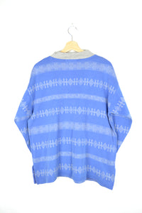 90s design Blue Crewneck L