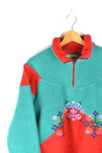 Load image into Gallery viewer, Beautiful Colorblocked Fleece Sweater Large L