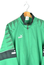 Load image into Gallery viewer, Green Puma Track Jacket Large L