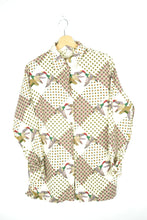 Load image into Gallery viewer, 70s Duck Printed Long Sleeves Men Shirt M