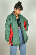 Load image into Gallery viewer, 80s Color block rain jacket Oversized XL XXL