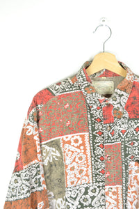 70s 80s Crazy Patterned Men's Shirt XL