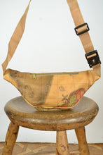 Load image into Gallery viewer, Banana Cross Body Bag World Map Vintage 80s Bumbag