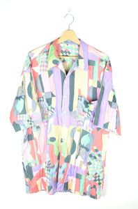 80s Fun abstract Patterned Shirt XL