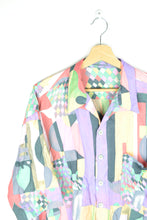 Load image into Gallery viewer, 80s Fun abstract Patterned Shirt XL