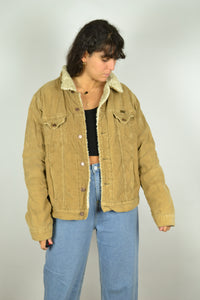 90s WRANGLER Lined Corduroy Bomber Jacket Medium M