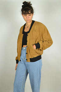 80s Cropped Faux Suede Jacket Small S Medium M
