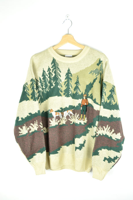 Nature Theme Sweater M L