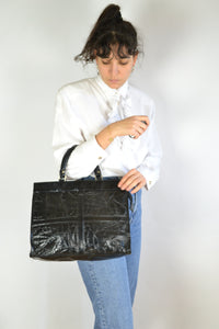 Faux Crocodile Leather Hand Bag