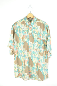 Abstract patterned Printed Shirt Yellow/Green M