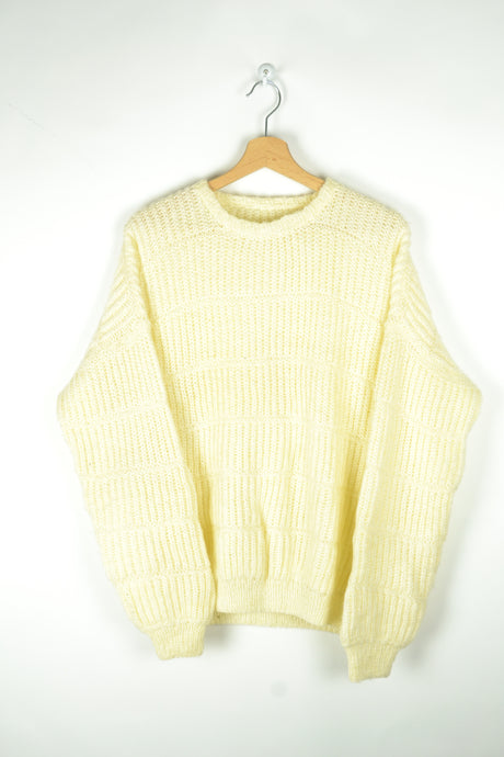 Soft Off-white Wool Sweater M L