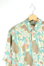 Load image into Gallery viewer, Abstract patterned Printed Shirt Yellow/Green M