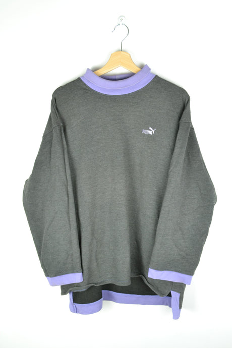 80s Puma High collar Grey/Purple L