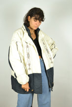 Load image into Gallery viewer, 90s White Zipped Parka Jacket Large L XL