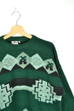 Load image into Gallery viewer, Vintage 90s - Abstract Patterned Green Sweater - Size M/L