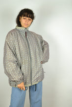 Load image into Gallery viewer, 90s Zip Grey Jacket Large L
