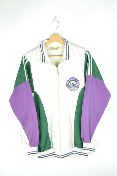 Adidas Zipped Sweatshirt Green/Purple/Gray