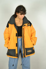 Load image into Gallery viewer, 90s Neon Orange Parka Zipped Jacket Large L