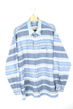 Load image into Gallery viewer, Patterned Long sleeved Men shirt Large L