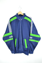 Load image into Gallery viewer, Adidas 90s track jacket Bleu/Green Large L