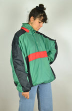 Load image into Gallery viewer, 80s Color block Windbreaker Oversized XXL