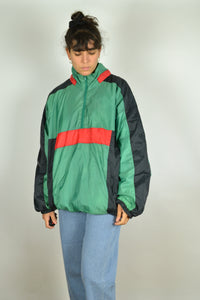 80s Color block Windbreaker Oversized XXL