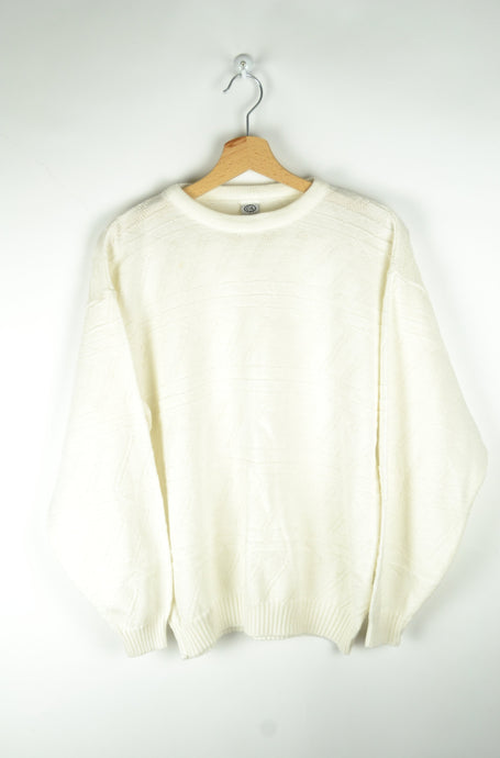 90s Cute White Sweater Medium M