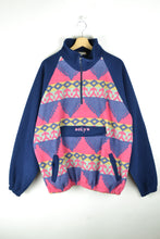 Load image into Gallery viewer, 80s Patterned Fleece Sweater Oversized XL 2XL