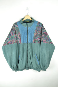 80s 90s Fleece Jacket Oversized XL