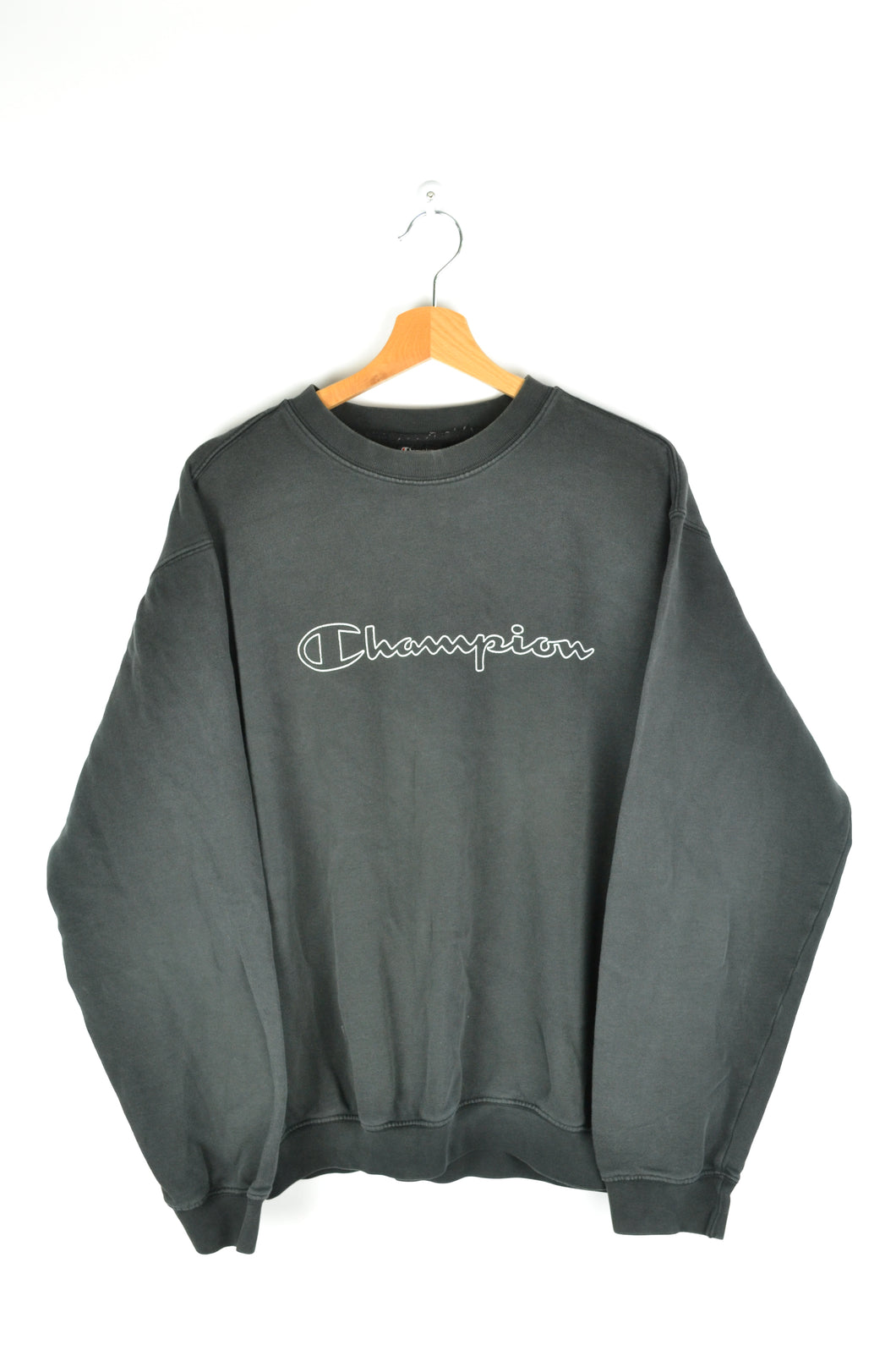 90s Black Champion Crewneck XL