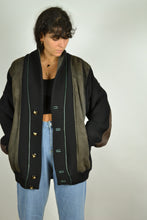 Load image into Gallery viewer, 80s Luxury Leather & Wool Vintage Jacket XL