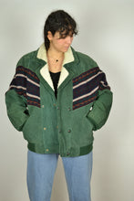 Load image into Gallery viewer, Vintage 80s - Green Navajo bomber Jacket - Size L