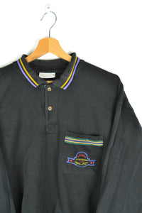 80s Adidas Polo Sweatshirt Large L