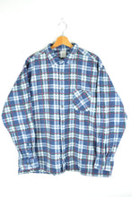 Load image into Gallery viewer, Blue/Green/Red Flannel Shirt XL