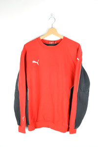 Puma Red/Gray Crewneck Sweatshirt Medium M