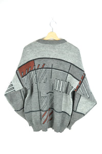 Abstract patterned Sweater L XL